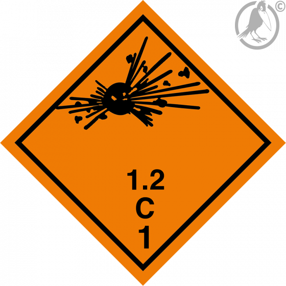 Gefahrgutaufkleber Klasse 1.2C