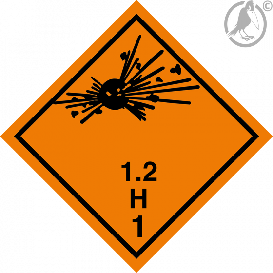 Gefahrgutaufkleber Klasse 1.2H