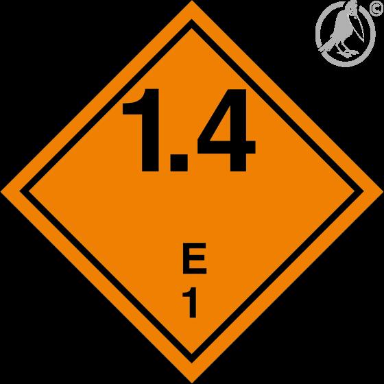 Gefahrgutaufkleber Klasse 1.4 E