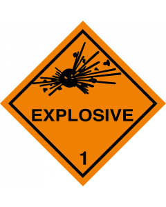 Gefahrgutaufkleber Klasse 1 EXPLOSIVE