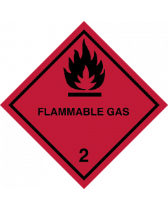 Gefahrgutaufkleber Klasse 2.1 FLAMMABLE GAS