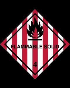 Gefahrgutaufkleber Klasse 4.1 FLAMMABLE SOLID