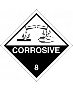 Gefahrgutaufkleber Klasse 8 CORROSIVE