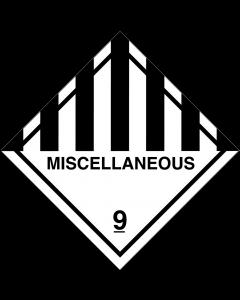 Gefahrgutaufkleber Klasse 9 MISCELLANEOUS