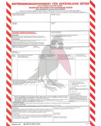 Beförderungsdokument für gefährliche Stoffe (IMO-Erklärung)